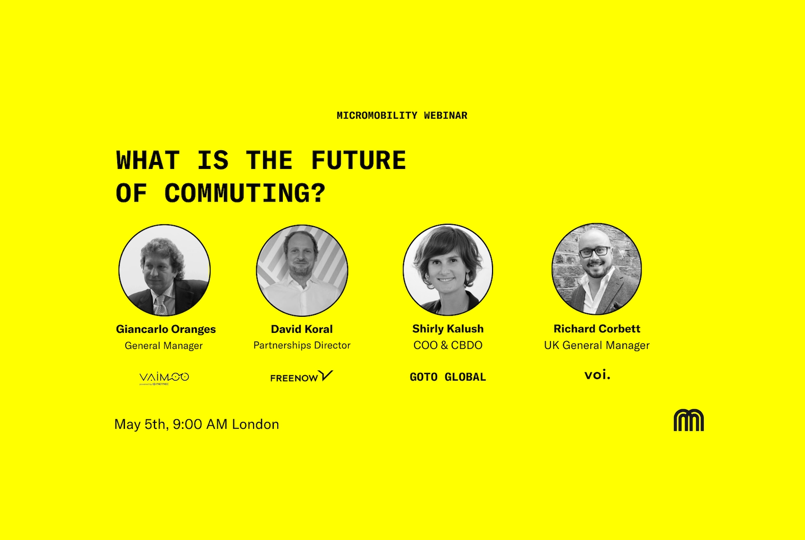 WEBINAR: What is the future of Commuting? <br> <span class='eventdata'>Digital, 05/05/2021</span>